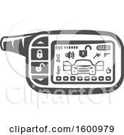 Clipart Of A Car Alarm System Royalty Free Vector Illustration