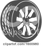 Clipart Of A Tire Royalty Free Vector Illustration