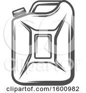 Clipart Of A Gas Can Royalty Free Vector Illustration