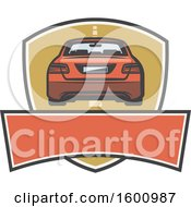 July 16th, 2018: Clipart Of A Rear View Of A Car Over A Frame Royalty Free Vector Illustration by Vector Tradition SM
