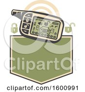 July 16th, 2018: Clipart Of A Car Security Alarm System Over A Frame Royalty Free Vector Illustration by Vector Tradition SM