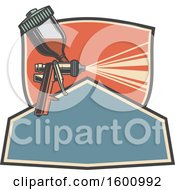 Clipart Of A Car Spray Paint Nozzle Royalty Free Vector Illustration
