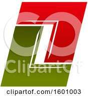 Clipart Of A Capital Letter O Or Number Zero Design Royalty Free Vector Illustration