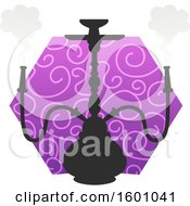 Clipart Of A Hookah Design Royalty Free Vector Illustration by Vector Tradition SM