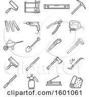 Poster, Art Print Of Gray Tool Icons