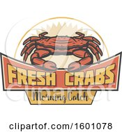Clipart Of A Crab Design Royalty Free Vector Illustration