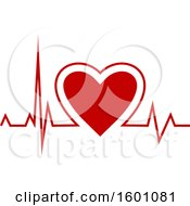 Clipart Of A Medical Cardiogram Heart Beat Royalty Free Vector Illustration