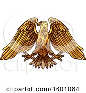Clipart Of A Heraldic Eagle Royalty Free Vector Illustration