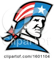 Clipart Of A Minuteman American Patriot Soldier Royalty Free Vector Illustration