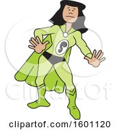 Clipart Of A Cartoon Black Captain Safety Female Super Hero With A Letter S On Her Suit Royalty Free Vector Illustration