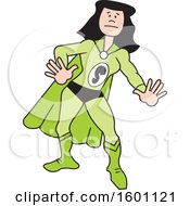 Clipart Of A Cartoon White Captain Safety Female Super Hero With A Letter S On Her Suit Royalty Free Vector Illustration