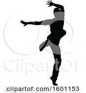 Silhouetted Male Dancer