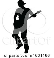 Silhouetted Male Guitarist