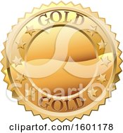 Clipart Of A Gold Medal Royalty Free Vector Illustration