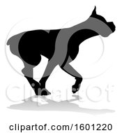 Clipart Of A Silhouetted Boxer Dog Royalty Free Vector Illustration