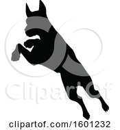 Clipart Of A Silhouetted Great Dane Dog Royalty Free Vector Illustration