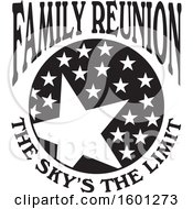 Clipart Of A Black And White Family Reunion The Skys The Limit Stars Design Royalty Free Vector Illustration