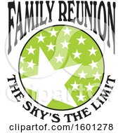 Clipart Of A Green Black And White Family Reunion The Skys The Limit Stars Design Royalty Free Vector Illustration