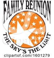Clipart Of A Black Orange And White Family Reunion The Skys The Limit Stars Design Royalty Free Vector Illustration
