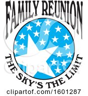 Clipart Of A Blue Black And White Family Reunion The Skys The Limit Stars Design Royalty Free Vector Illustration