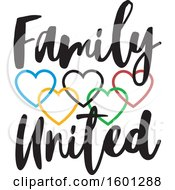 Clipart Of A Family United Design With Connected Colorful Hearts Royalty Free Vector Illustration