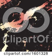 Clipart Of A Metallic Rose Gold And Black Marble Background Royalty Free Vector Illustration