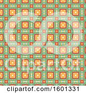 Clipart Of A Green And Orange Pattern Royalty Free Vector Illustration