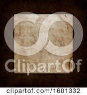 Clipart Of A Border Of Leather Around Aged Paper Royalty Free Illustration