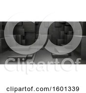 Clipart Of A 3d Cubic Background Royalty Free Illustration