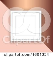Clipart Of A Blank Picture Frame On A Rose Gold Background Royalty Free Vector Illustration