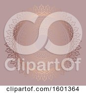 Clipart Of A Rose Gold Mandala Royalty Free Vector Illustration