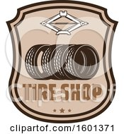 Clipart Of A Car Tire Shop Design Royalty Free Vector Illustration by Vector Tradition SM
