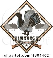 Clipart Of A Hunting Shield Design With A Wood Grouse Royalty Free Vector Illustration by Vector Tradition SM