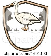 Clipart Of A Hunting Shield Design With A Goose Royalty Free Vector Illustration by Vector Tradition SM