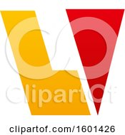 Clipart Of A Letter V Design Royalty Free Vector Illustration