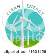 Clipart Of A Wind Turbine Clean Energy Design Royalty Free Vector Illustration