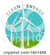 Poster, Art Print Of Wind Turbine Clean Energy Design
