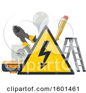Clipart Of An Electric Design Royalty Free Vector Illustration