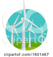 Clipart Of A Wind Turbine Clean Energy Design Royalty Free Vector Illustration by Vector Tradition SM