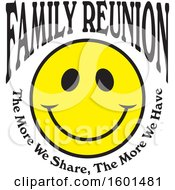 Poster, Art Print Of Family Reunion Happy Face With The More We Share The More We Have Text