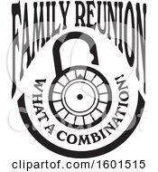 Clipart Of A Black And White Family Reunion What A Combination Lock Design Royalty Free Vector Illustration by Johnny Sajem