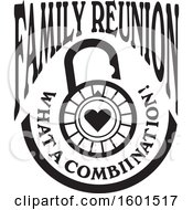 Clipart Of A Black And White Family Reunion What A Combination Heart Lock Design Royalty Free Vector Illustration by Johnny Sajem