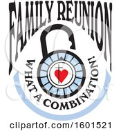 Clipart Of A Family Reunion What A Combination Cross And Heart Lock Design Royalty Free Vector Illustration by Johnny Sajem
