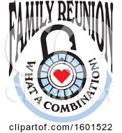 Clipart Of A Family Reunion What A Combination Heart Lock Design Royalty Free Vector Illustration by Johnny Sajem