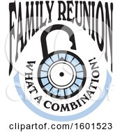 Clipart Of A Family Reunion What A Combination Lock Design Royalty Free Vector Illustration by Johnny Sajem