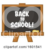 Clipart Of A Back To School Black Board Royalty Free Vector Illustration