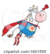Flying Super Hero Cow