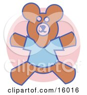 Teddy Bear Wearing A Blue T Shirt Clipart Illustration by Andy Nortnik
