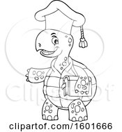 Cartoon Lineart Tortoise Turtle Professor Mascot Character