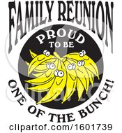 Clipart Of A Family Reunion Proud To Be One Of The Bunch Design With Bananas Royalty Free Vector Illustration by Johnny Sajem